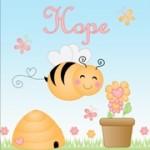 Personalised bee kids canvas art set