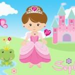 kids personalised princess canvas wall art