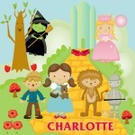 kids personalised wizard of oz canvas wall art