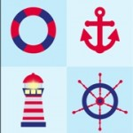 Personalised boys nautical boat canvas wall art set